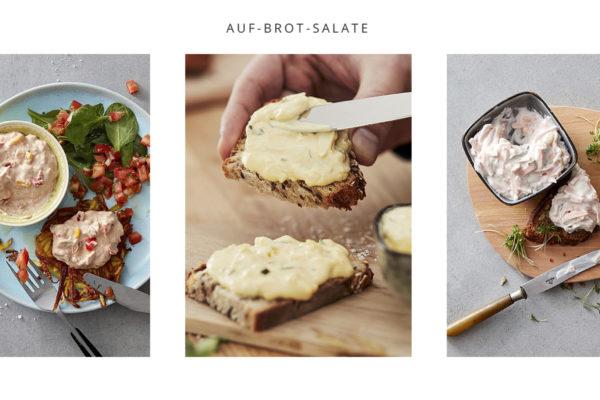 auf Brot Salate